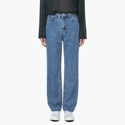 LW053 NON SPAN HIGH DENIM PANTS