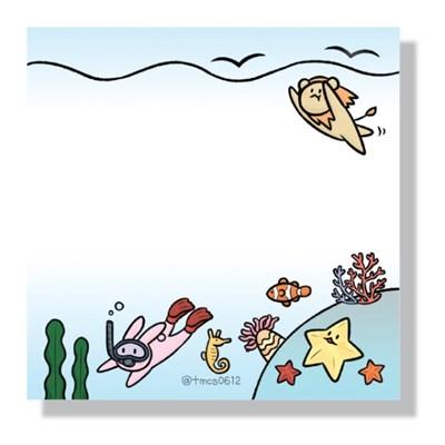별해달네 여름바다 떡메모지
