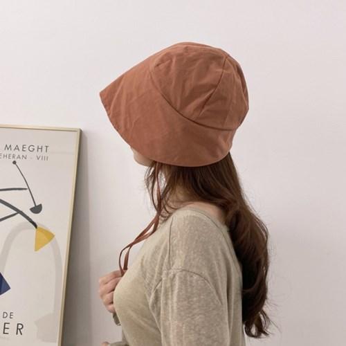 코튼 여성 보넷 턱끈 버킷햇 모자