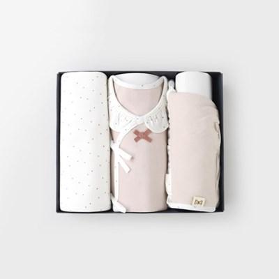 [메르베] 마들렌 출산선물세트(배냇저고리+속싸개+모자)_(1505513)