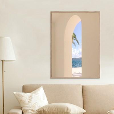 감성 포스터 힐링 창문 바다풍경 포스터 그림 액자