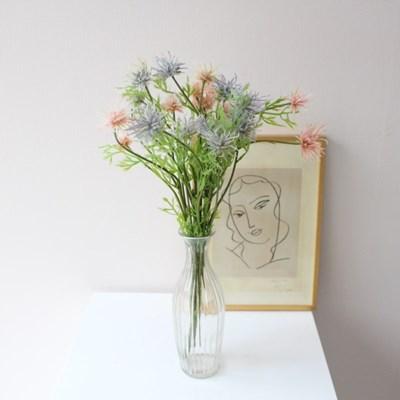 빈티지 스노우 엉겅퀴 조화 인테리어 조화꽃장식(2color)
