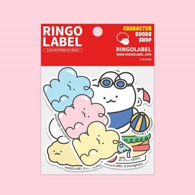 [링고라벨] 몽그리 PVC 스티커팩 6pcs