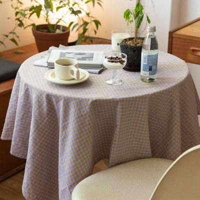 온더버터플라이체크 식탁보 테이블보 2size 테이블러너