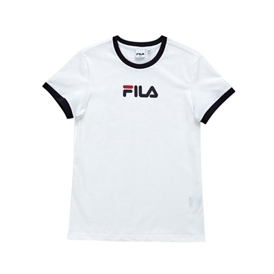 휠라 Women linear logo 반팔티 FLFLAS1C51_(1911087)