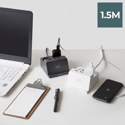 라이프썸 무선충전 USB 멀티탭 2구 1.5M (LFS-HA22) 2종_(1357635)