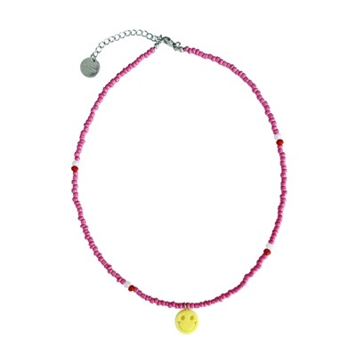 HEY SMILE NECKLACE - pink