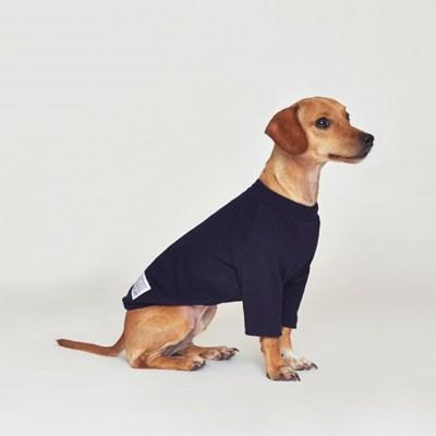 강아지옷 플로트 스탠다드 하프넥티셔츠 네이비_(898213)
