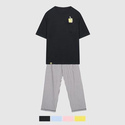 (스폰지밥)비키니시티 인싸 티셔츠 잠옷_SPPPA49U04