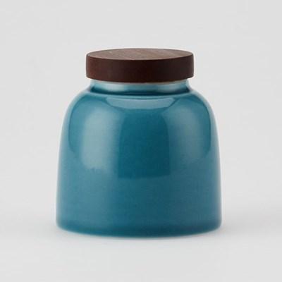 [2082010] 청아한 도자기 차엽 차통 2 - 블루_(2864990)