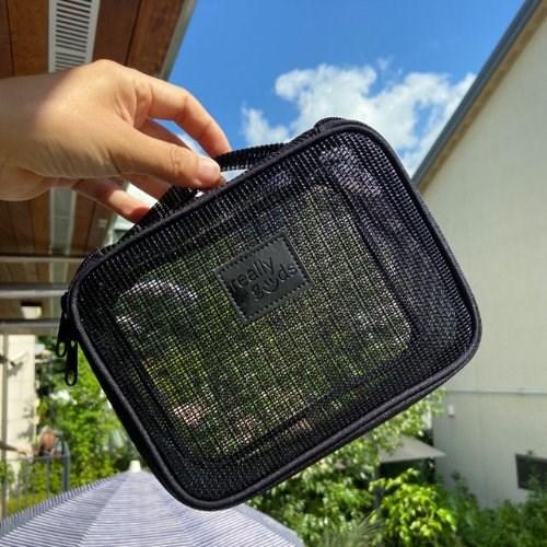 리굿스 mesh 방수파우치 /블랙매쉬
