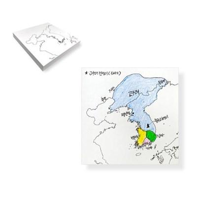 한국지도 포스트잇