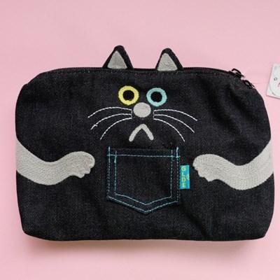 [GLADEE] 그라디 오드아이 고양이 플랫파우치