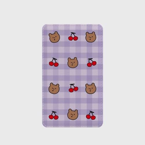 체크 line cherry gummy 보조배터리