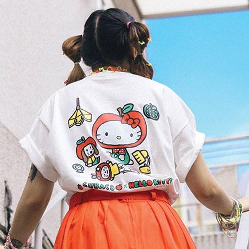 수바코X헬로키티 사과티셔츠