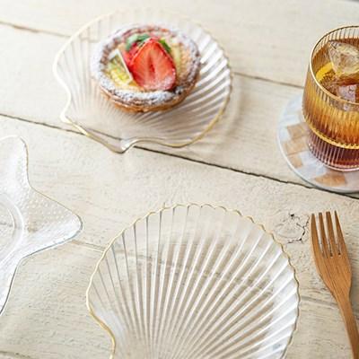 골드링 불가사리 조개 접시(디자인선택)