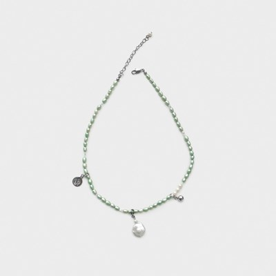 mint pearl mix necklace