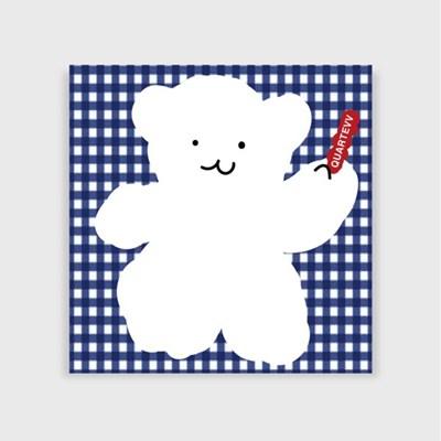 [포스트잇]Blue Check Bear