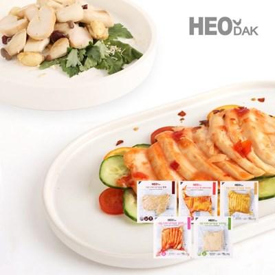 [허닭] 프레시 슬라이스 닭가슴살 100g 5종 10팩
