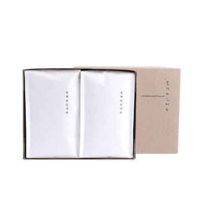 [추석선물세트]블랙와인커피 눈길 원두 2종 선물세트 (_(1123293)