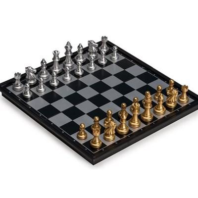 맥킨더 보드게임 고급 자석 체스판 세트 골드 실버_(347740)