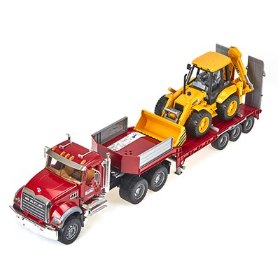MACK 트럭과 백호 로더_(301821171)