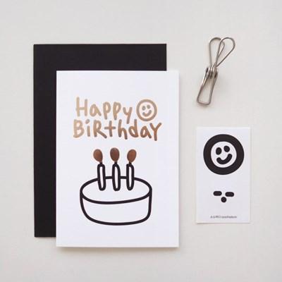 로즈골드 생일 카드