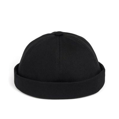 LB TWILL BRIMLESS CAP (black)