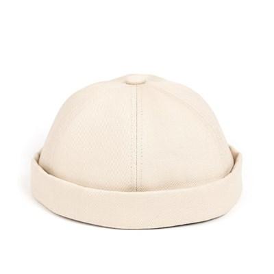 LB TWILL BRIMLESS CAP (ivory)