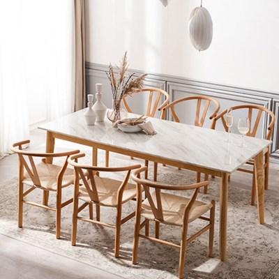 모딜리아니 M76 대리석 원목 6인 식탁세트(의자)