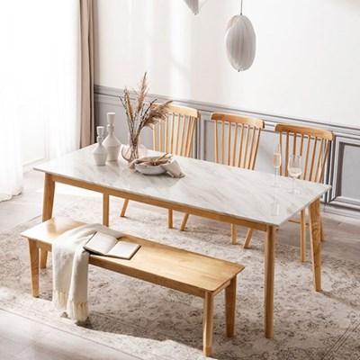 모딜리아니 M88 대리석 원목 6인 식탁세트(의자+벤치)