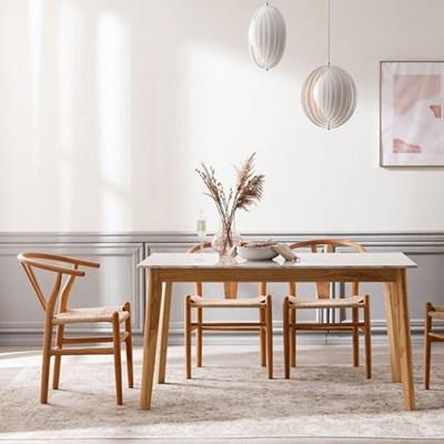 모딜리아니 M76 대리석 원목 4인 식탁세트(의자)