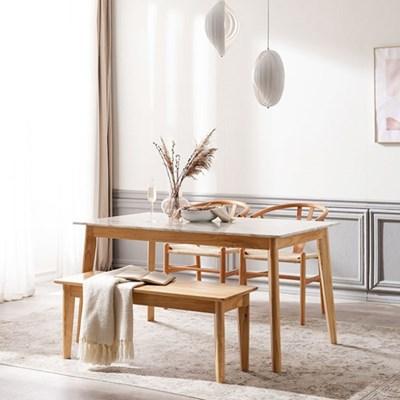 모딜리아니 M76 대리석 원목 4인 식탁세트(의자+벤치)