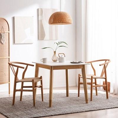 모딜리아니 M76 세라믹 원목 2인 식탁세트(의자)