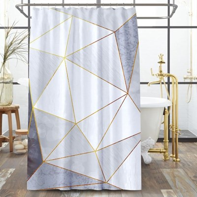 골드라인 패브릭 샤워커튼(150x180cm)/ 욕실 방수커튼
