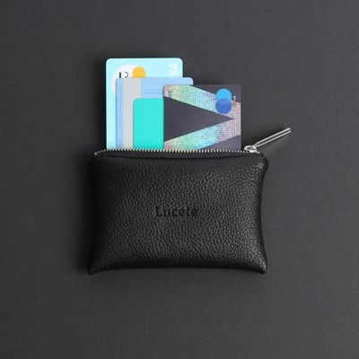 프롬미 이니셜 카드지갑 ver4_블랙(실버지퍼)