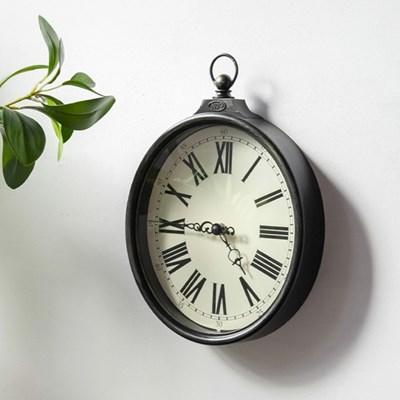 프렌치 블랙 앤틱 벽 시계