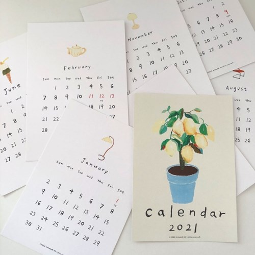 Madeleine 2021 illustration poster calendar