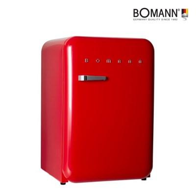 보만 원룸 미니 소형 레트로 인테리어 냉장고 레드 106L