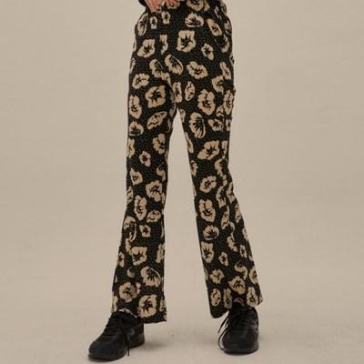 PO FLOWER BOOTS CUT PANTS(BLACK)_(4305461)