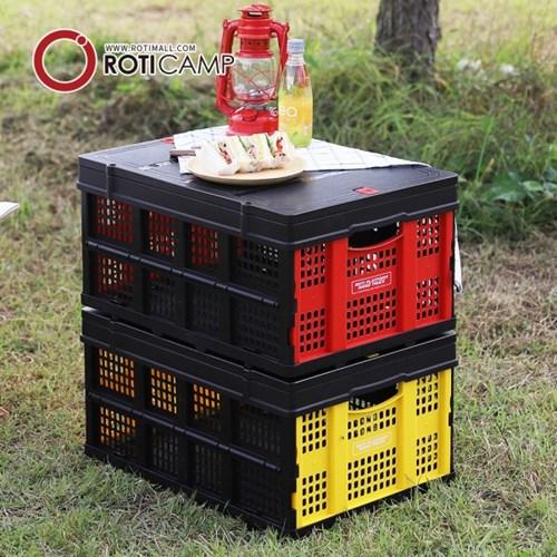 로티캠프 캠핑 폴딩 수납 박스+덮개 세트 60L