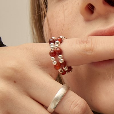 PO DOUBLE RING(RED)_(4305397)