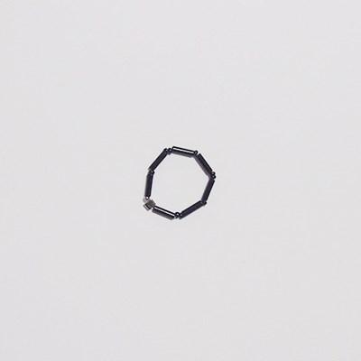 black_simple_r 심플 블랙 비즈반지