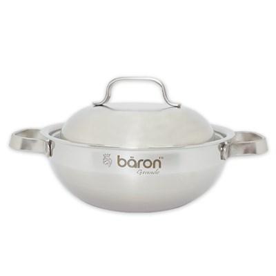BARON 스텐 통3중 전골 냄비 20cm 양수