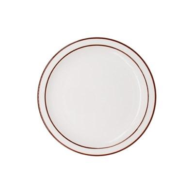 시라쿠스 라인 원형 접시 7인치 브라운