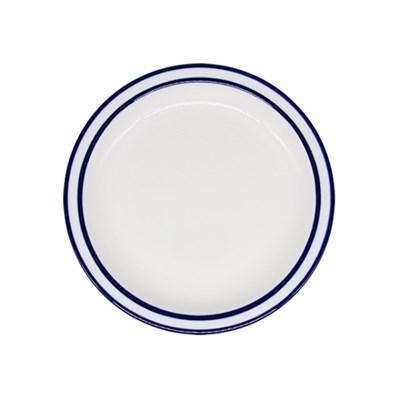 시라쿠스 라인 원형 접시 9인치 블루