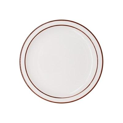 시라쿠스 라인 원형 접시 9인치 브라운