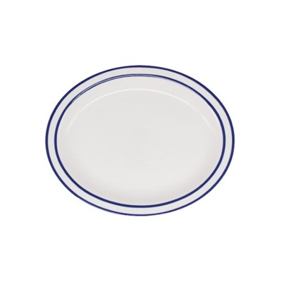 시라쿠스 라인 타원접시 9인치 블루
