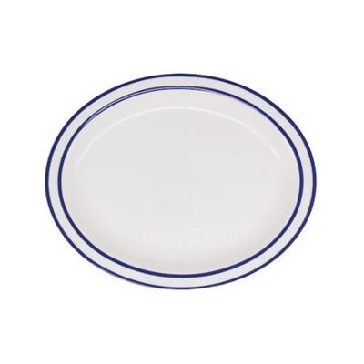 시라쿠스 라인 타원접시 11인치 블루