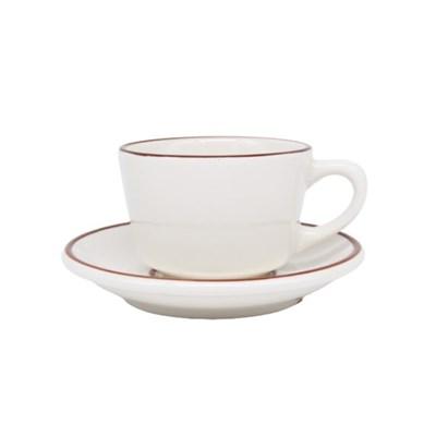 시라쿠스 라인 커피잔/받침 브라운 200m_(1056912)